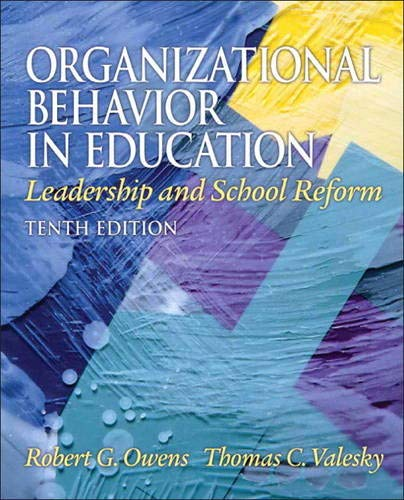 9780137017461: Organizational Behavior in Education
