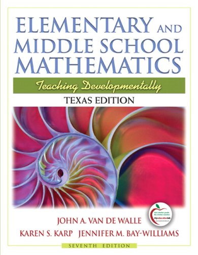 9780137025084: Elementary and Middle School Mathematics: Teaching Developmentally, 7th Edition
