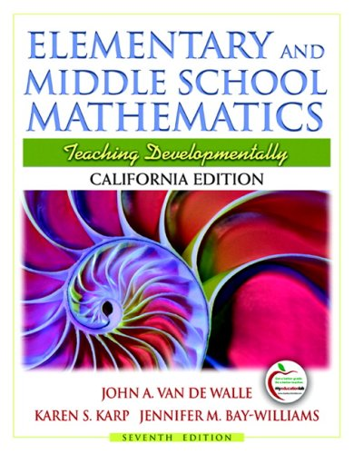 9780137025107: California Edition of Elementary and Middle School Mathematics