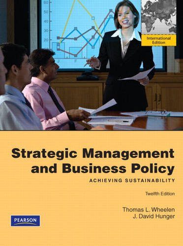 9780137029150: Strategic Management & Business Policy: Achieving Sustainability: International Edition