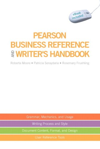 9780137030330: Pearson Business Reference and Writer's Handbook (with Downloadable eBook Access Code)