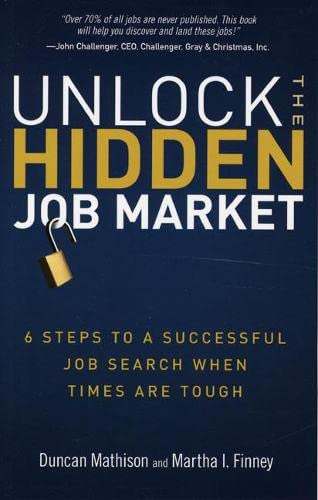 Unlock the Hidden Job Market: 6 Steps to a Successful Job Search When Times Are Tough: Duncan ...