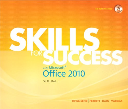 9780137032570: Skills for Success with Microsoft Office 2010, Vol. 1