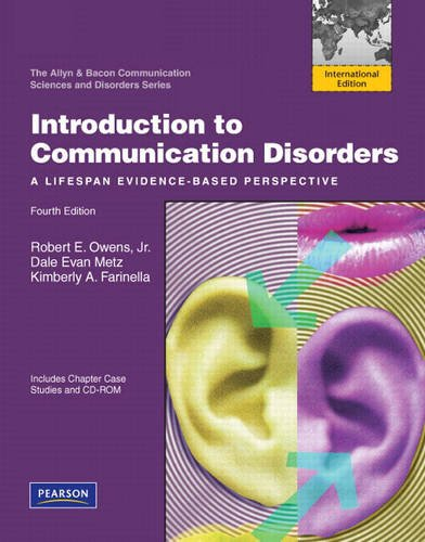 9780137033751: Introduction to Communication Disorders: A Lifespan Evidence-Based Perspective