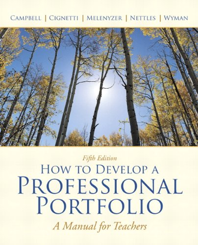 9780137034543: How to Develop A Professional Portfolio: A Manual for Teachers (5th Edition)