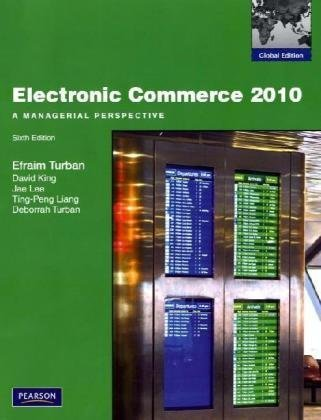 9780137034659: Electronic Commerce 2010: A Managerial Perspective