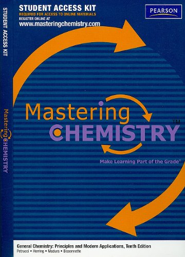 9780137037018: MasteringChemistry without Pearson eText Student Access Kit for General Chemistry: Principles and Modern Applications (MasteringChemistry (Access Codes))