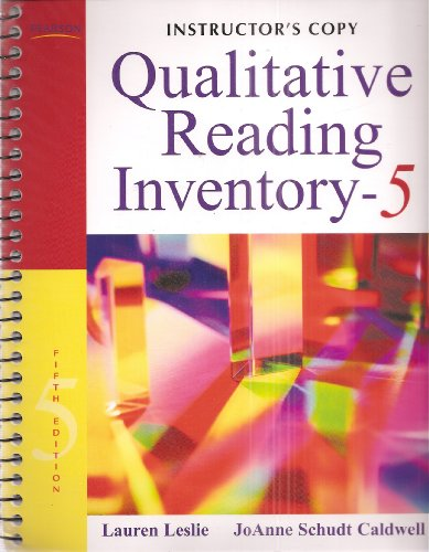 9780137048809: Instructor's Copy Qualitative Reading Inventory - Fifth Edition