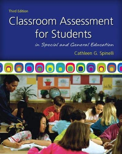 9780137050130: Classroom Assessment for Students in Special and General Education (3rd Edition)