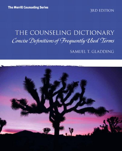 9780137050420: The Counseling Dictionary: Concise Definitions of Frequently Used Terms
