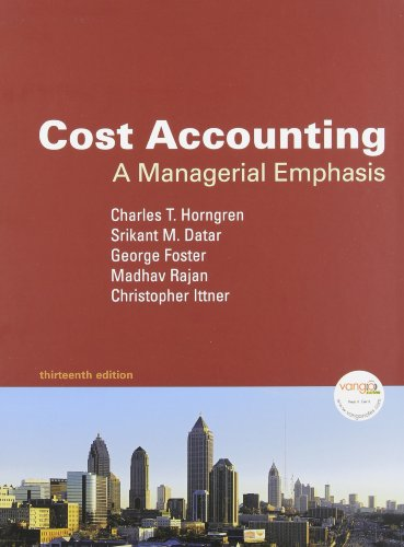 9780137052325: Cost Accounting: A Managerial Emphasis and MyAccountingLab Student Access Code Card (13th Edition)