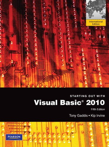 9780137052769: Starting Out with Visual Basic 2010: International Version