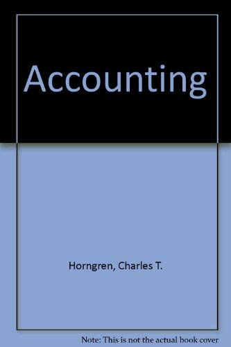 9780137055197: Accounting (Prentice-Hall series in accounting)