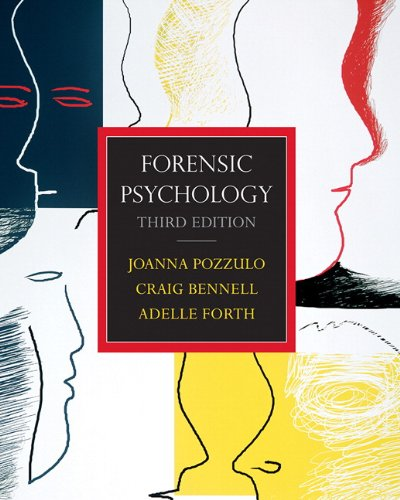 Forensic Psychology: Pozzulo, Joanna; Forth,
