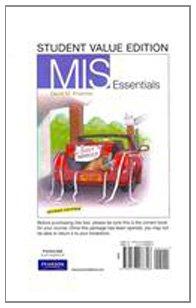9780137066896: MIS Essentials: Student Value Edition