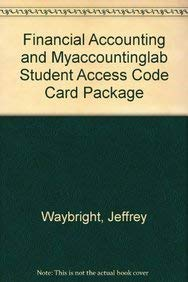 9780137068166: Financial Accounting and MyAccountingLab Student Access Code Card Package