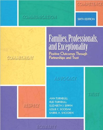 9780137070480: Families, Professionals, and Exceptionality: Positive Outcomes Through Partnerships and Trust