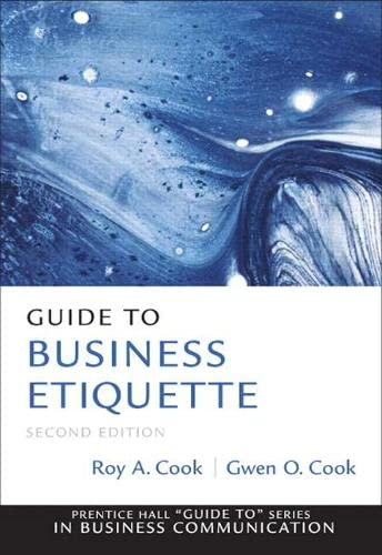 9780137075041: Guide to Business Etiquette (2nd Edition) (Prentice Hall Guide To: Business Communication)
