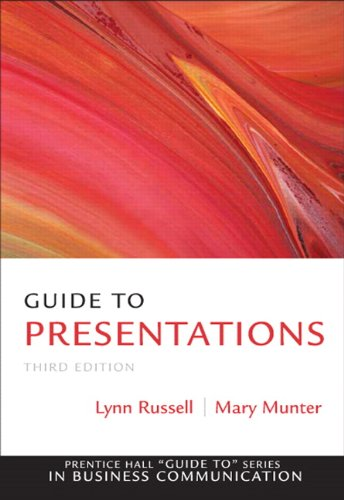 9780137075089: Guide to Presentations (3rd Edition) (Guide to Series in Business Communication)