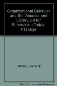 9780137082667: Organizational Behavior and Self Assessment Library 3.4 for Supervision Today! Package (14th Edition)