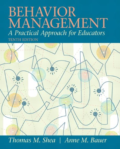 9780137085040: Behavior Management: A Practical Approach for Educators