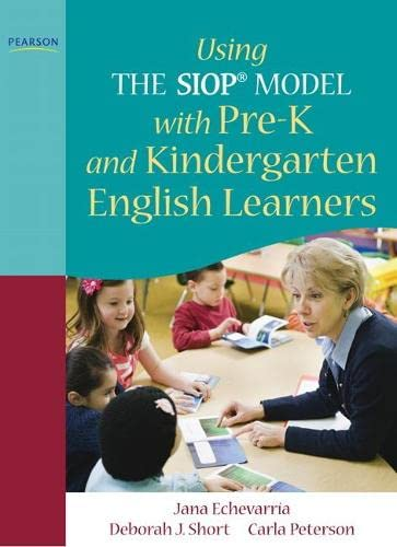 9780137085231: Using the SIOP Model with Pre-K and Kindergarten English Learners