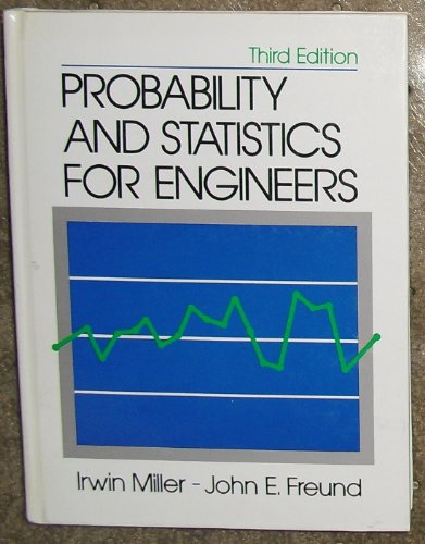 Probability and Statistics for Engineers: Miller, Irwin