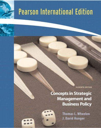 9780137128228: Concepts: Strategic Management and Business Policy