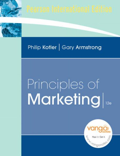 9780137128273: Principles of Marketing: International Edition