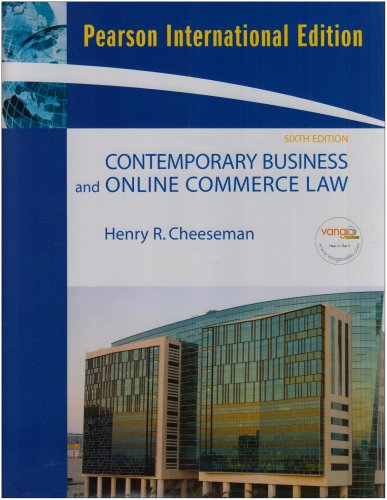9780137129720: Contemporary Business and Online Commerce Law