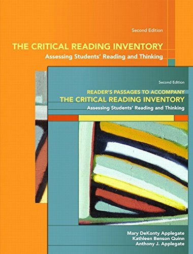 9780137129751: The Critical Reading Inventory: Assessing Students Reading and Thinking & Readers Passages (2nd Edition)