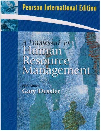 9780137135981: Framework for Human Resource Management