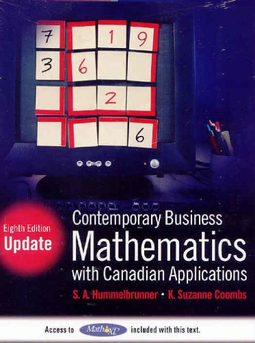 9780137141494: Contemporary Business Mathematics with Canadian Applications with MathXL Student Access Kit, Eighth Edition Update