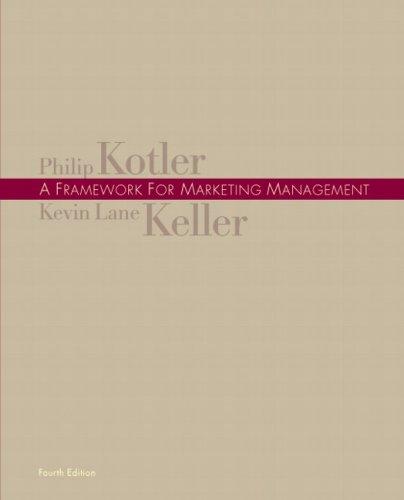 Framework for Marketing Management Value Package (includes Marketing Plan Handbookd Pro Premier ...