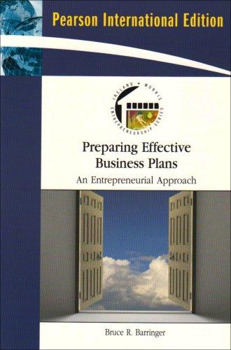 9780137145843: Preparing Effective Business Plans: An Entrepreneurial Approach