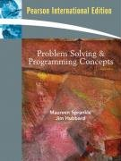 Problem Solving and Programming Concepts: International Edition: Sprankle, Maureen and