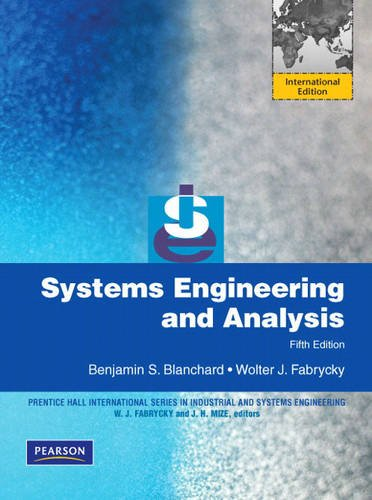9780137148431: Systems Engineering and Analysis:International Edition