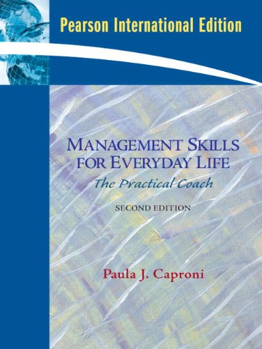 9780137148561: Management Skills for Everyday Life: The Practical Coach