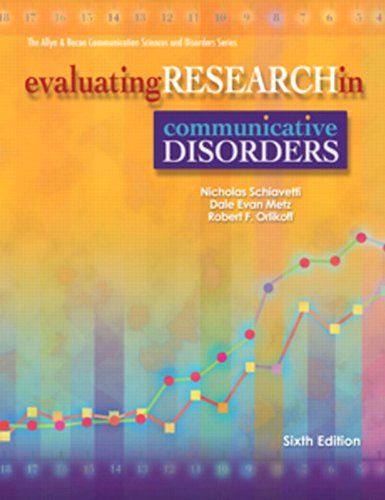 9780137151554: Evaluating Research in Communicative Disorders (6th Edition)