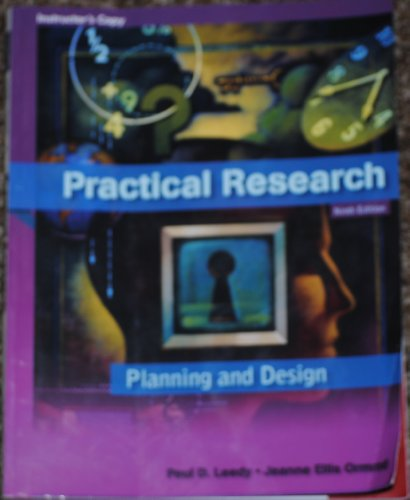 Practical Research Planning And Design 9Th Edition: Leedy