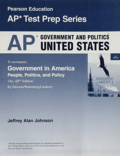 9780137153251: AP Government and Politics United States (Pearson Education AP Test Prep Series)