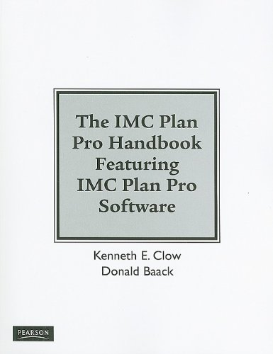 9780137154166: IMC Plan Pro Handbook for Integrated Advertising, Promotion and Marketing Communications