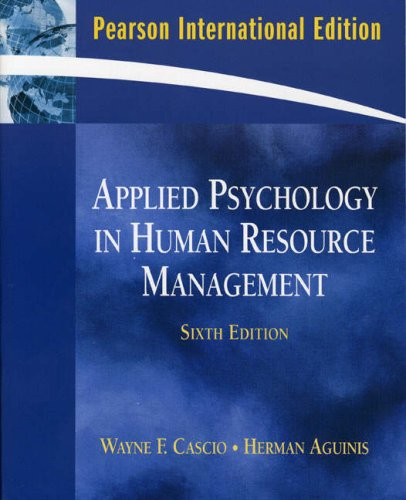 9780137154951: Applied Psychology in Human Resource Management: International Edition