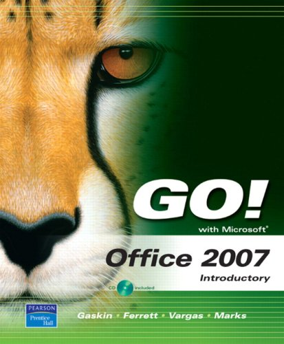 9780137156917: GO! with Office 2007 Introductory Voice EDDs Value Pack (includes GO! with Microsoft Office 2007 Introductory & myitlab for GO! with Microsoft Office 2007)
