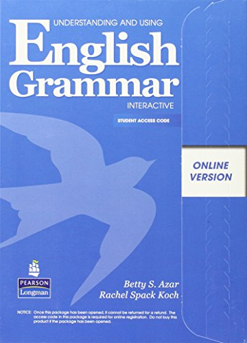 Understanding and Using English Grammar Interactive, Online: Betty Schrampfer Azar;