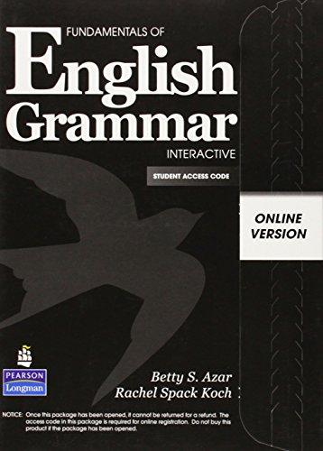 9780137157778: Fundamentals of English Grammar Interactive, Online Version, Student Access