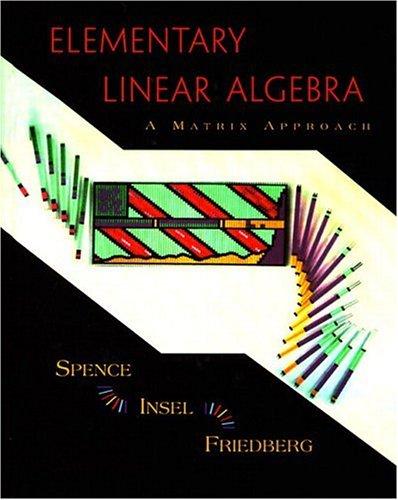 9780137167227: Elementary Linear Algebra: A Matrix Approach