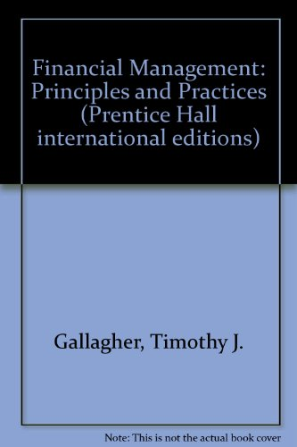 9780137194858: Financial Management: Principles and Practices (Prentice Hall international editions)