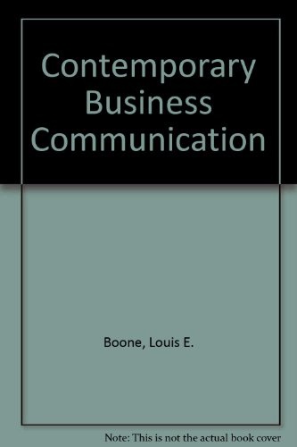 9780137195275: Contemporary Business Communication