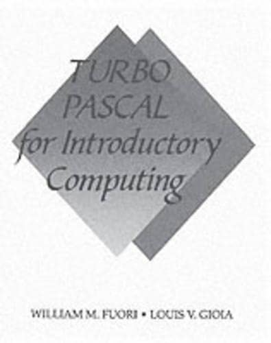 9780137201457: Turbo Pascal for Introductory Computing